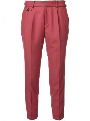 Укороченные брюки Loveless. Цвет: красный
