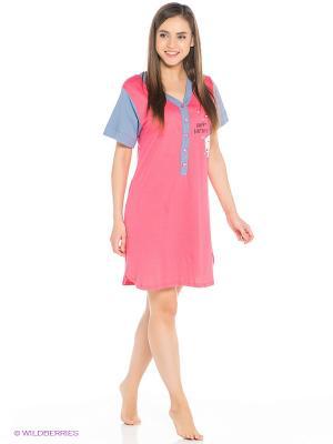 Сорочка Vienetta Secret. Цвет: розовый