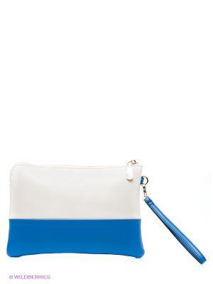 Клатч Calipso. Цвет: синий, молочный