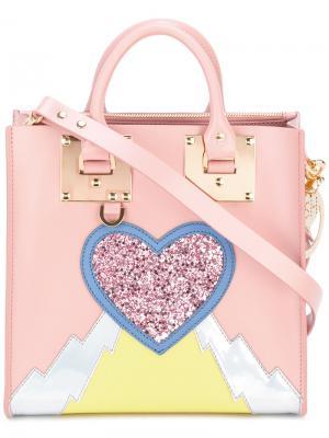 Декорированная сумка-тоут Sophie Hulme. Цвет: розовый и фиолетовый