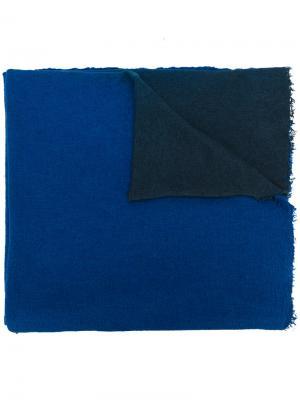Фактурная двухцветная шаль Faliero Sarti. Цвет: синий