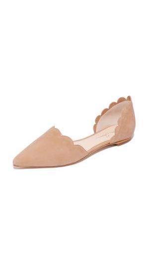 Обувь на плоской подошве Garcia в стиле dOrsay Isa Tapia. Цвет: голубой