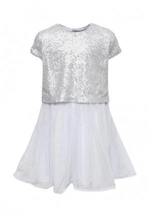 Платье Catimini. Цвет: серебряный