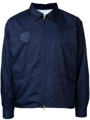 Куртка на молнии monkey time. Цвет: синий