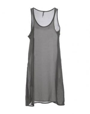 Платье до колена LIVIANA CONTI. Цвет: зеленый-милитари
