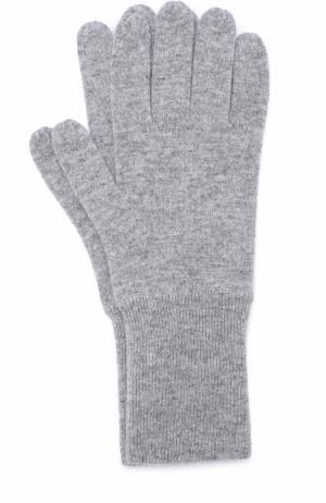 Кашемировые перчатки Allude. Цвет: светло-серый