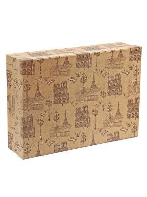 Коробка крафт  54, набор из 5 прямоугольных. 32х20х8 - 40х28х10 сантиметров. VELD-CO. Цвет: коричневый,светло-коричневый