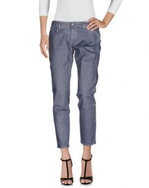 Джинсовые брюки MAURO GRIFONI. Цвет: серый