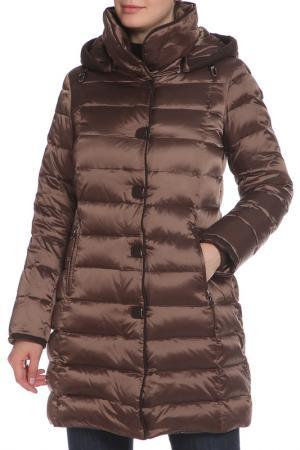 Пальто La Reine Blanche. Цвет: коричневый