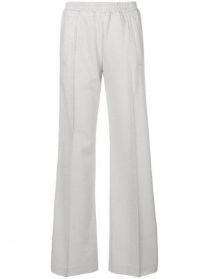 Спортивные брюки с полосками по бокам Dondup. Цвет: металлический