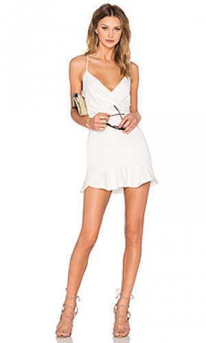 Платье marilyn NBD. Цвет: белый