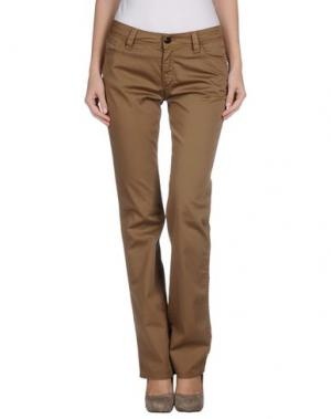 Повседневные брюки CHIRIBIRI. Цвет: хаки