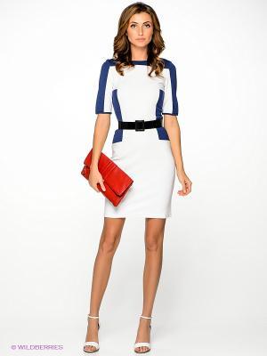 Платье V&V. Цвет: белый, синий