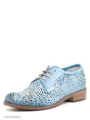 Ботинки CAFeNOIR. Цвет: голубой