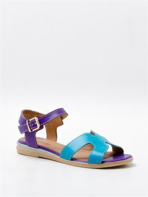 Сандалии BELWEST. Цвет: бирюзовый, фиолетовый