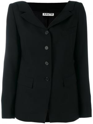 Пиджак на пуговицах Aalto. Цвет: чёрный