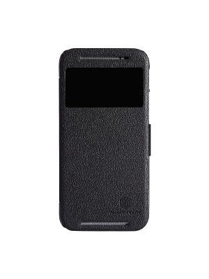 HTC One (M8) Nillkin Fresh Series Leather Case. Цвет: черный