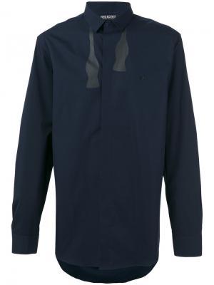 Рубашка с принтом в виде развязанной бабочки Neil Barrett. Цвет: синий