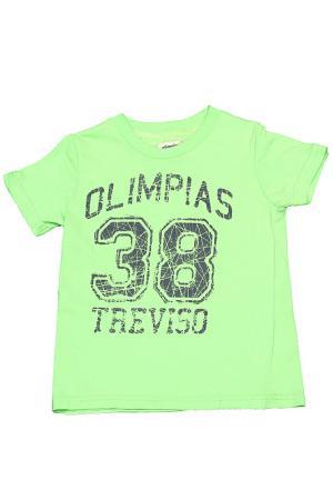 Футболка Olimpias. Цвет: зеленый