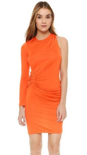 Платье Venice с одним рукавом ISSA. Цвет: мандариновый