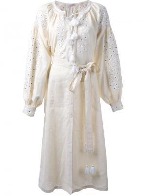 Платье с цветочной вышивкой Vita Kin. Цвет: белый