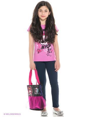 Футболка Monster High. Цвет: розовый