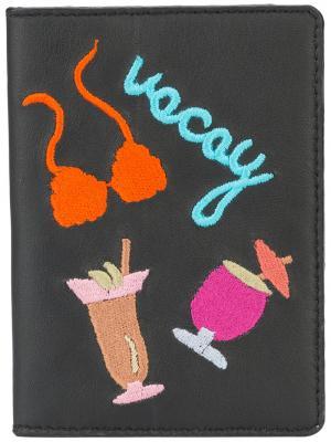 Обложка для паспорта Vacay Lizzie Fortunato Jewels. Цвет: чёрный