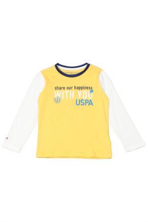Толстовка U.S. Polo Assn.. Цвет: sr0135 желтый, белый