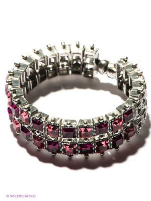 Браслет Royal Diamond. Цвет: серебристый, розовый, бордовый