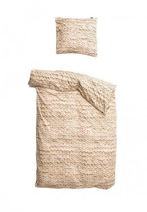 Комплект постельного белья 1,5-спальный Snurk. Цвет: бежевый