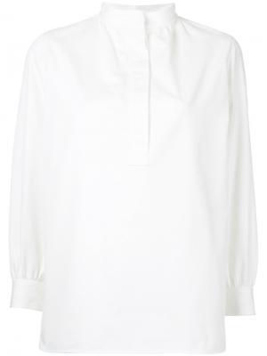 Блузка с узким воротником-стойкой Atlantique Ascoli. Цвет: белый