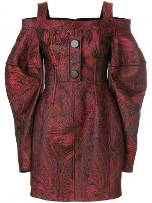 Короткое платье с открытыми плечами Bougie Ellery. Цвет: красный