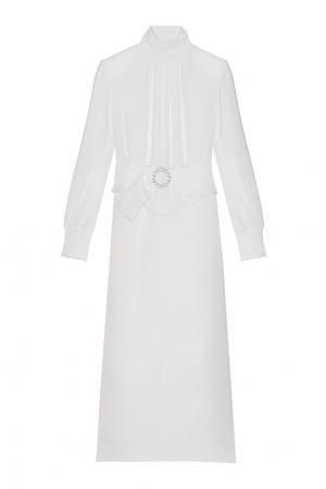 Платье с поясом Alessandra Rich. Цвет: белый