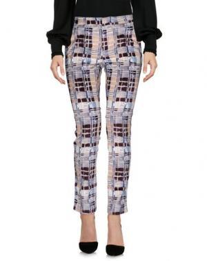 Повседневные брюки E-GÓ. Цвет: красно-коричневый