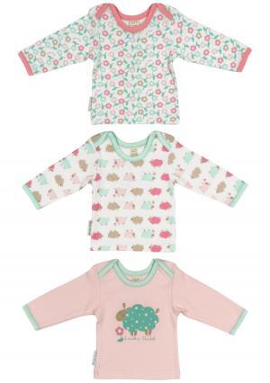 Комплект : кофточка 3 шт Lucky child. Цвет: зеленый (мятный/розовый)