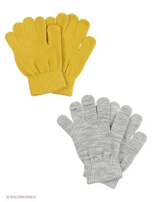 Перчатки Reserved. Цвет: зеленый, желтый