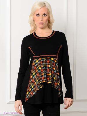 Блузка Livaa. Цвет: черный