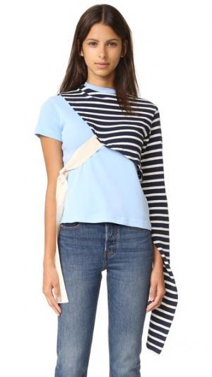 Рубашка в стиле футболки с узлами Jacquemus. Цвет: небесно-голубой