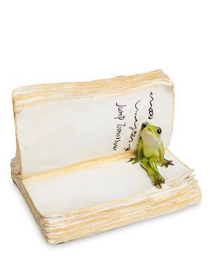 Фигурка Лягушонок с книгой Art East. Цвет: бежевый
