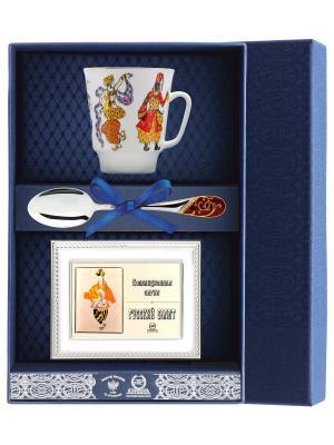 Набор чайный Майская - Балет Шахерезада (чашка + ложка 925 пр рамка для фото футляр) АргентА. Цвет: серебристый