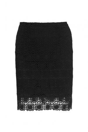 Кружевная юбка 136798 Villa Turgenev. Цвет: черный