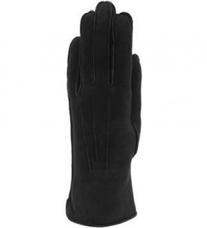 Черные замшевые перчатки Bartoc. Цвет: черный