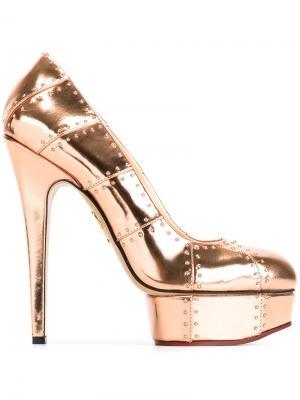 Туфли Industrial Priscilla Charlotte Olympia. Цвет: розовый и фиолетовый