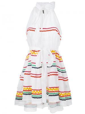 Платье мини Ric Rac Lisa Marie Fernandez. Цвет: белый