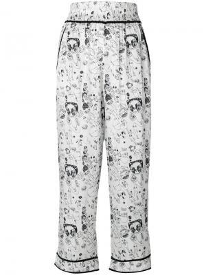 Укороченные брюки Gordon Shrimps. Цвет: белый