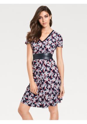 Моделирующее платье ASHLEY BROOKE by Heine. Цвет: темно-синий/красный