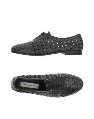 Обувь на шнурках MANILA GRACE DENIM. Цвет: стальной серый