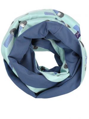 Снуд - Вип-жаккард (Мебиус) Оланж Ассорти. Цвет: голубой, светло-голубой, синий, лазурный, бирюзовый