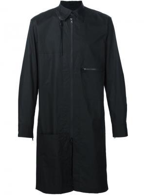 Многослойное пальто на молнии Y-3. Цвет: чёрный