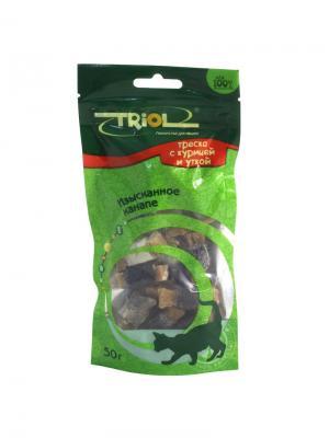 Деликатесные Роллы из трески для кошек, 50г. TRIOL. Цвет: коричневый